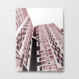 Burgundy Building Metal Print