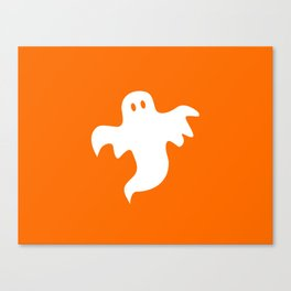 Spooky White Halloween Ghost Canvas Print