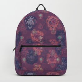 Lotus flower - mulberry woodblock print style pattern Backpack