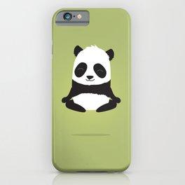 Mindful panda levitating iPhone Case