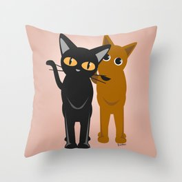 I brought my friend Throw Pillow