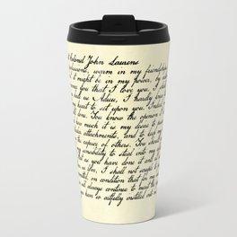 Alexander Hamilton Letter to John Laurens Travel Mug