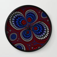 paisley Wall Clocks featuring Paisley by Christy Leigh