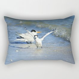 Playful Tern Rectangular Pillow