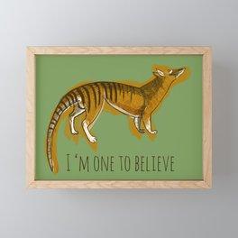 Believe in Thylacine Framed Mini Art Print