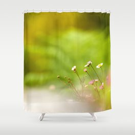 Beauty of wildflowers in the field Shower Curtain