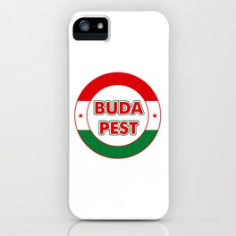 Budapest, circle, color iPhone Case