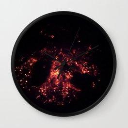 Burning Embers Wall Clock
