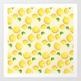 Lemon Pattern Art Print