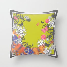 Flutterbies Throw Pillow