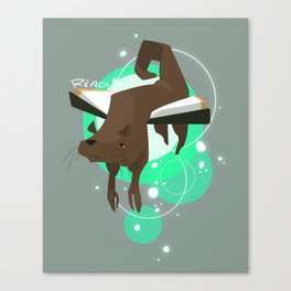 Otter Bookmark Canvas Print