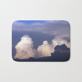 Cloud towers in the Sky -  cumulonimbus Bath Mat