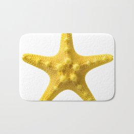 Yellow starfish Bath Mat