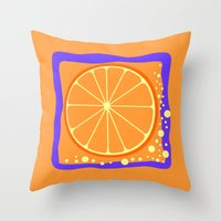 coasters Throw Pillows featuring ORANGE by Tanya Pligina
