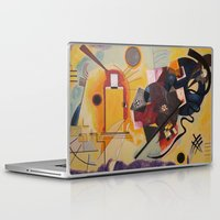 kandinsky Laptop & iPad Skins featuring Wassily Study Repro yellow red blue 1925  by Christine baessler
