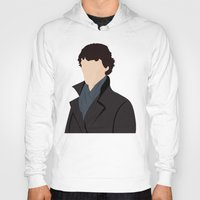 sherlock Hoodies featuring Sherlock by Jessica's Illustrationart
