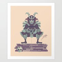 samurai Art Prints featuring Samurai by Josh Belden