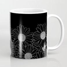 Daisy Boarder Black Mug
