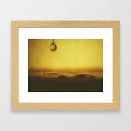 A drop of coffee Framed Art Print