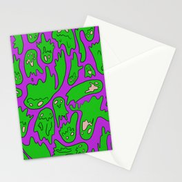 Green Ghosties Stationery Cards