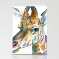 kindle Stationery Cards featuring Giraffe by Brandon Keehner