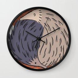 Hedgehog Yin Yang Wall Clock