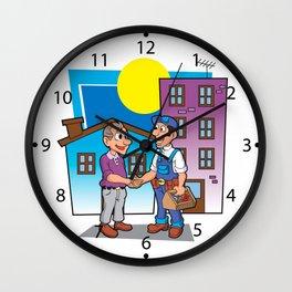 handyman handshake, Wall Clock