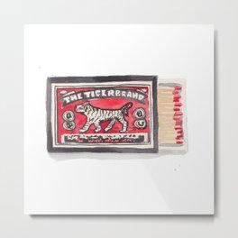 Tiger Brand Vintage Matchbox Print Metal Print