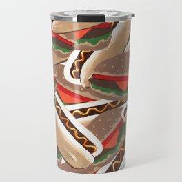Hot Dogs And Hamburgers Travel Mug