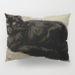 Vintage Painting of a Black Cat (1903) Pillow Sham