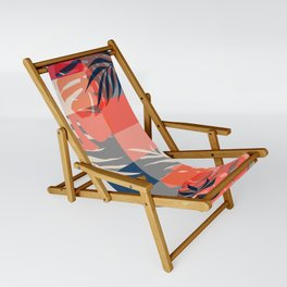 Tropical Puzzle Sling Chair