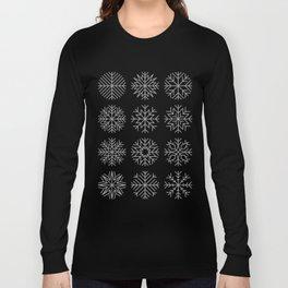 minimalist snow flakes Long Sleeve T-shirt