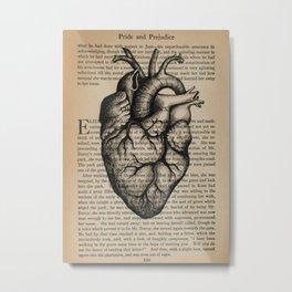 Pride & Prejudice, Chapter XXXV: Anatomical Heart Metal Print