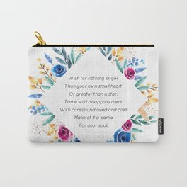 your own small heart - A. Walker Collection Carry-All Pouch