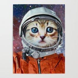 Astronaut Cat #4 Poster
