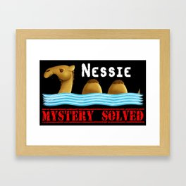 Nessie was a camel or so Framed Art Print
