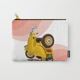 Vespa Vector yellow Carry-All Pouch