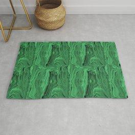 Emerald marble swirl Rug