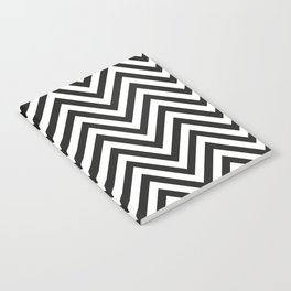 Geometric B/W Lines Pattern Notebook