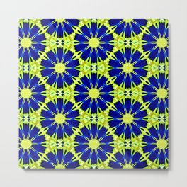 Blue Green vector abstract floral background Metal Print