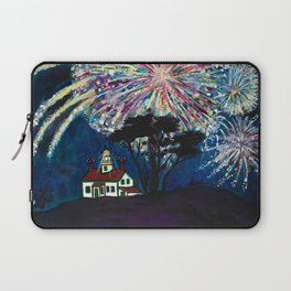 Crescent City Fourth of July ~ Battery Point Lighthouse Laptop Sleeve