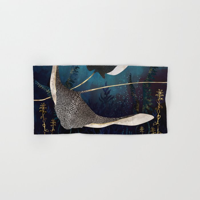 Metallic Stingray Hand & Bath Towel