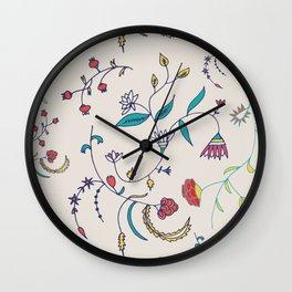 Chintz Pearl Blue #floralchintz Wall Clock