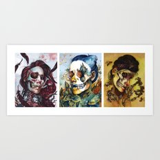 THE QUEENS Art Print