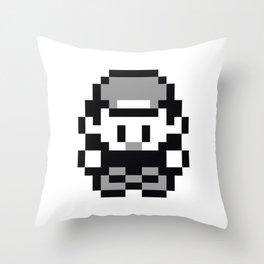 Pixel Retro Pokémon Trainer Throw Pillow