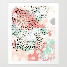 Breah - abstract painting pastel colors nursery baby gender neutral hipster Art Print