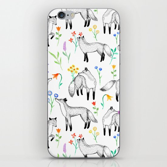 Fox Floral iPhone & iPod Skin