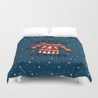 sweater Duvet Covers featuring Sweater by Mr and Mrs Quirynen