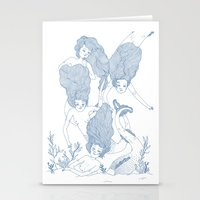 mermaids Stationery Cards featuring Mermaids by Veils and Mirrors