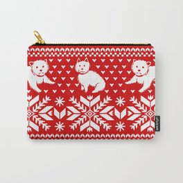 Fair Isle Westies Carry-All Pouch